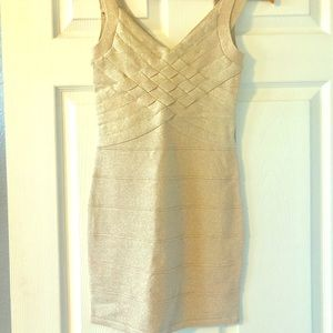 Gold Glitter Party Dress